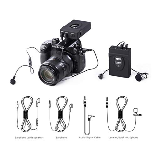 BOYA BY-WM24G Wireless Lavalier Microphone System Recording Real-time Monitor for Canon Nikon Camera Camcorder