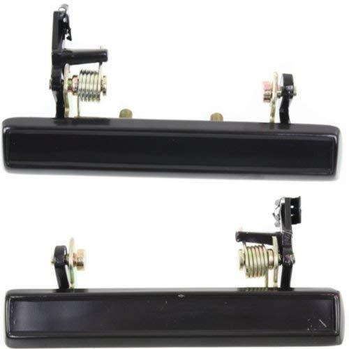 Evan-Fischer EVA1870107143181 Exterior Door Handles for Set of 2 Front Left and Right Side Metal Smooth Black
