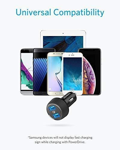 2 Anker Auto Ladeger/ät PowerDrive Speed USB C Kfz Ladeger/ät 2 Port 49W mit Power Delivery f/ür MacBook Pro//Air 2018,iPad Pro 2018,iPhone XS Max//XR//XS//X und mit PowerIQ 2.0 f/ür Samsung S9//S8 und mehr
