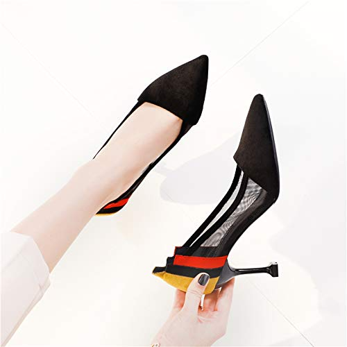 nine Single Sharp High Shoes Woman Sandals Breathable Heel Simple 7Cm Thirty Sexy Thin Shoe LBTSQ Shallow And Pointed Heel Cat FqvvH