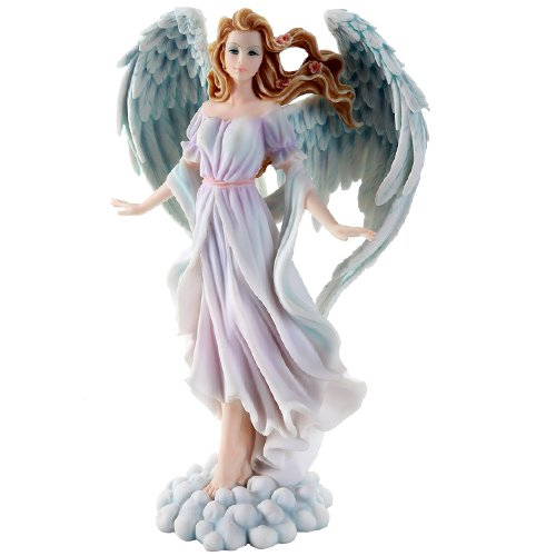 Peace Figurine Wings Angel (Pacific Giftware Seraphim Angels of Peace Harmony and Love Spiritual & Christian Decor Figurine 12 Inch)