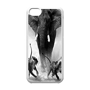 African Elephant Customized Cover Case with Hard Shell Protection for Iphone 5C Case lxa821329 WANGJING JINDA