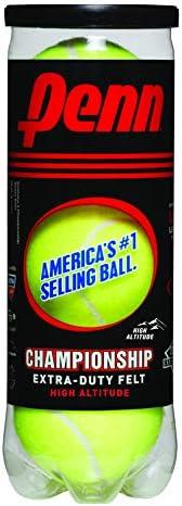 Penn Championship High Altitude Tennis Balls - Extra Duty Felt Pressurized Tennis Balls