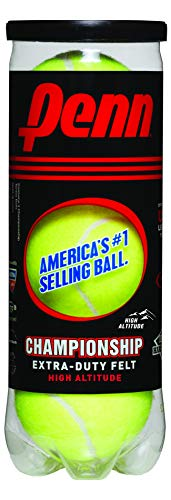 Balls Head Team Tennis - Penn Championship High Altitude Tennis Balls - Extra Duty Felt Pressurized Tennis Balls, 1 Can, 3 Balls