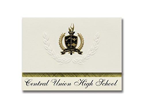Signature Announcements Central Union High School (El Centro, CA) Graduation Announcements, Pack of 25 with Gold & Black Metallic Foil seal, 6.25