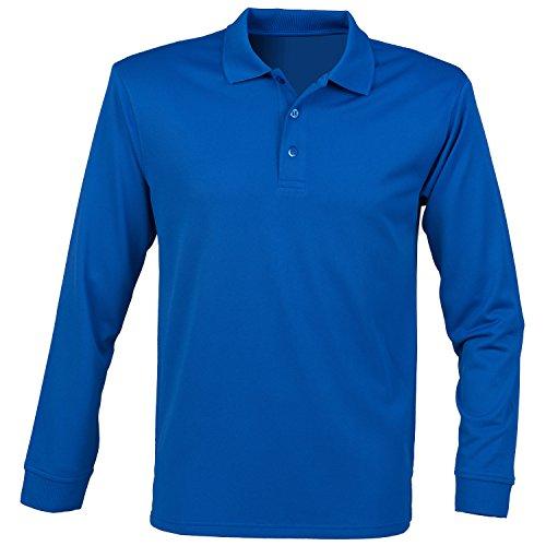 Camisa de manga larga henbury Coolplus Polo - Black - L