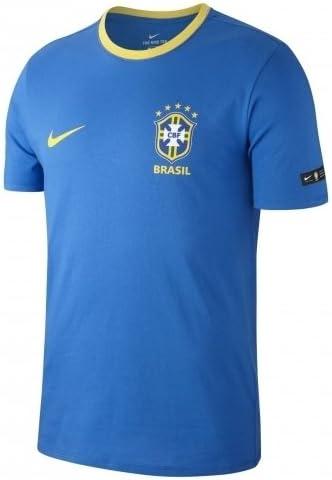Camiseta Nike Brasil 2018 Algodón, Color Azul Royal / Amarillo: Amazon.es: Deportes y aire libre