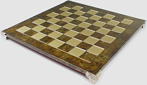 Manopoulos Brass & Brown Chess Board - 1