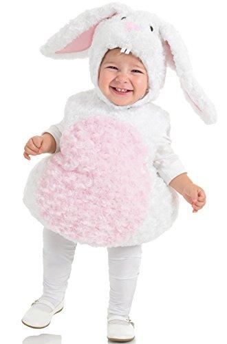 18 Months Girl Halloween Costume (Underwraps Baby's Rabbit Belly-Babies, White/Pink, Medium)