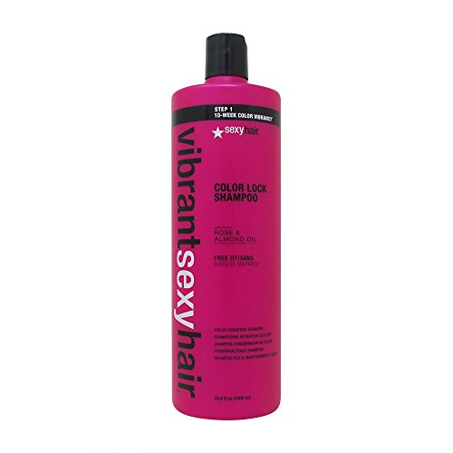 Sexy Hair Vibrant Color Lock Sulfate-Free Conserve Shampoo, 33.8 Ounce