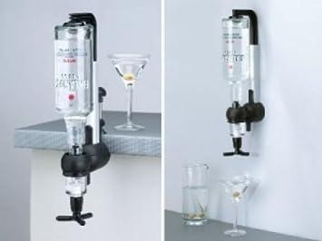 Minibar Bar Flaschenhalter und Dosierer 4-fach für die Wandmontage Wandhalterung