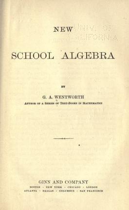 New School Algebra pdf epub