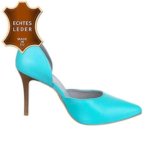 Tienda de descuento en Outlet En línea para la venta Bombas Mujer Mujeres Cingant Talones / De Aguja / Zapatos De Tacón Alto De Las Mujeres / Zapatos / Zapatos Elegantes / Cuero / Turquesa / Azul Original Confiable para la venta kcPsg6Jp