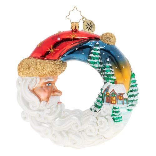 Christopher Radko Santa's Silent Night Wreath Christmas Ornament from Christopher Radko