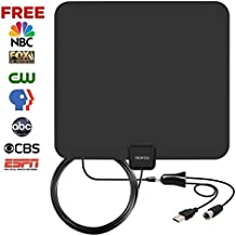 VIEWTEK Amplified HDTV Receiver 50 Mile Range with Detachable Amplifier 13 Ft Copper Coaxial Cable for TV with better reception 4K ready