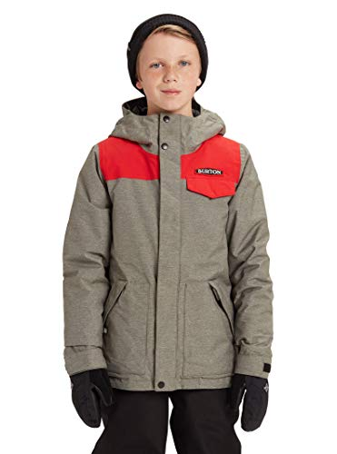 Burton Kids & Baby Little Kids' Dugout Jacket, Bog Heather/Flame Scarlet, X-Small