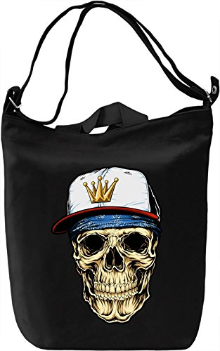 Gangsta skull Borsa Giornaliera Canvas Canvas Day Bag| 100% Premium Cotton Canvas| DTG Printing|