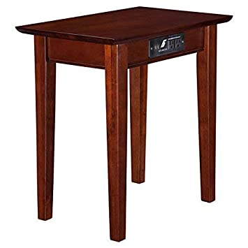 Atlantic Furniture AH13114 Shaker Side Table Rubber Wood Walnut
