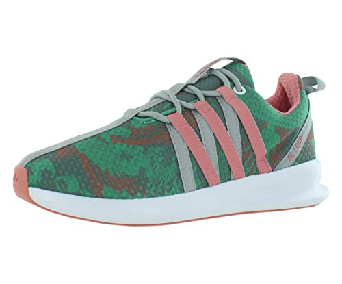 adidas Originals Women's SL Loop Racer W Lifestyle Sneaker, White/Blush Green/Vista Pink, 8 M US