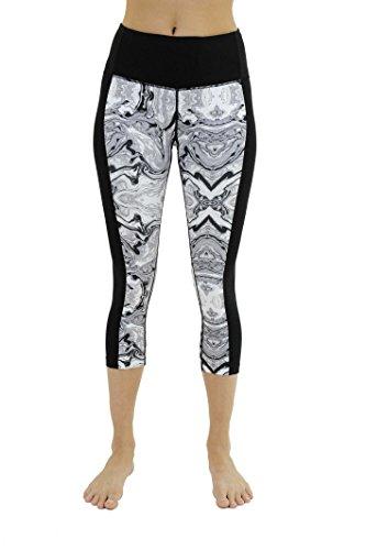 Christian Siriano New York CS401571-BC-M Yoga Capri Pants for Women