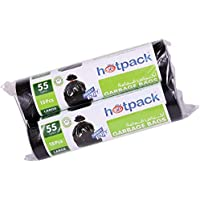 Hotpack Garbage Bag Roll Twin Pack, Large 55 Gallon x 15 pcs, 80 x 110cm