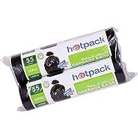 Hotpack HD Garbage Bag Roll, 2 x 15 Bags, 80 x 110 cm 55 gallon