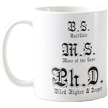 Amazon.com   Ph.D Mug - Graduation Gift - Funny Coffee or Tea Mug ...