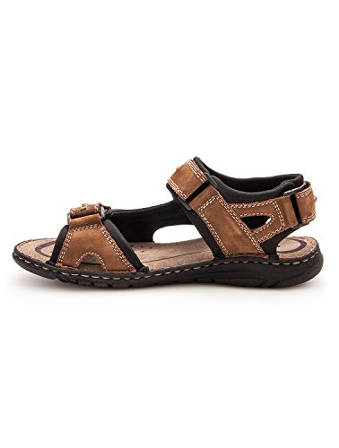 Zerimar Sandalias de Piel Para Hombres Sandalias Trekking Zapatillas de Senderismo Color Moka Talla 42