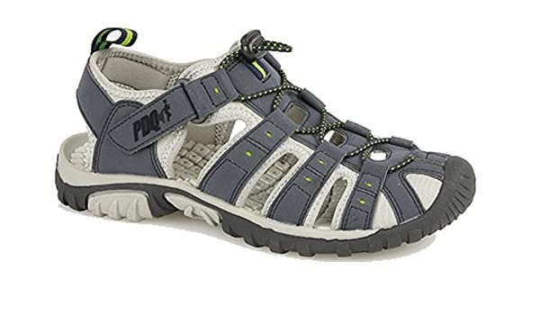 96ec111e982 PDQ Mens Toggle   Touch Fastening Sports Trail Sandals Navy Lime ...