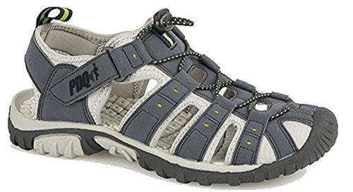 PDQ M040 - Zapatos polideportivas al aire libre para hombre azul - azul marino/verde lima