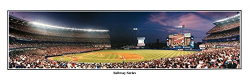 - June 26, 1998 NY Mets vs. NY Yankees Subway Series at Shea Stadium - 13.5x39 Panoramic Poster. Deluxe Brown