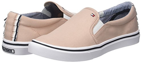 Slip Sneakers Femme dusty On Hilfiger 502 Tommy Textile Basses Light Weight Rose qw11CfI