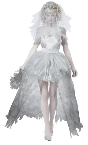 California Costumes Women's Ghostly Bride Adult, Grey, Medium]()