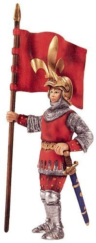 - Standard-Bearer, Fleur-De-Lis Coat Of Arms, Schleich