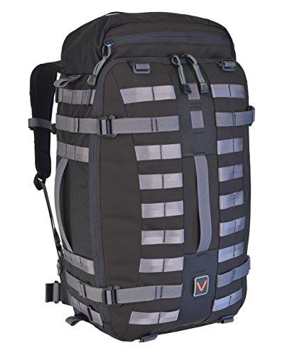 Vital Gear Air Rover Modular Adventure Travel Backpack  Black  Medium 40Mm