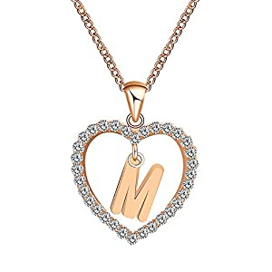 Women Necklaces,Alalaso Fashion Gift 26 English Letter Name Chain Pendant Jewelry (M)