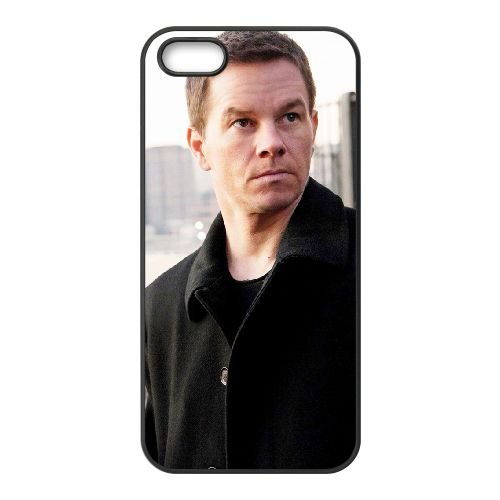 Mark Wahlberg 001 coque iPhone 5 5S cellulaire cas coque de téléphone cas téléphone cellulaire noir couvercle EOKXLLNCD25821
