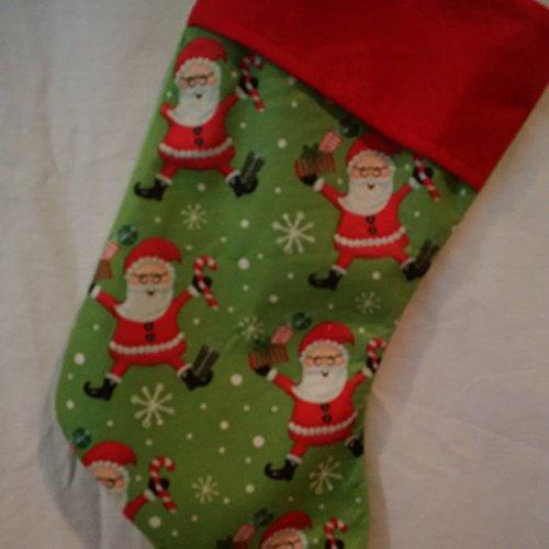 - Jolly Santa Christmas stocking, Santa Felt Holiday Stocking