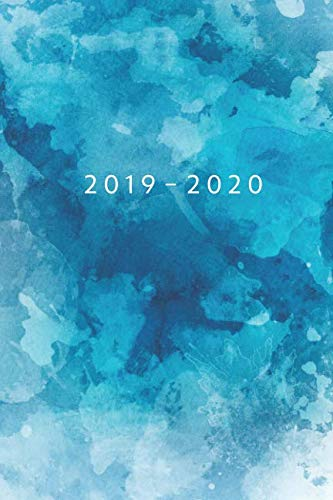 Planner Starting May 2019 - Dec 2020 | 6 x 9 Dated Agenda | Appointment Calendar | Organizer Book | Soft-Cover Watercolor Blue ()