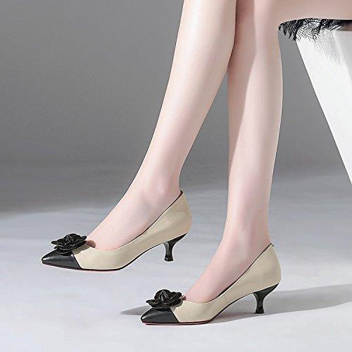 Heeled Single Jqdyl Shallow Single High Beige High Shoes Shoes Mouth Heeled High heels ggwtpxq6S