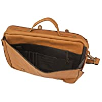 MLB Luggage Leather Porthole Laptop Briefcase by Pangea Brands