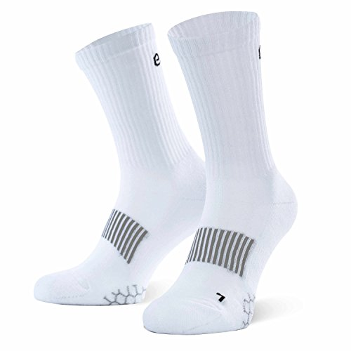 Eono Essentials Performance sportsokken (3-pack), unisex, kleur: zwart/wit/grijs, maten: UK 3-16, EU 35-50