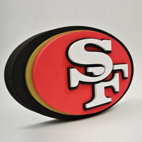 NFL San Francisco 49Ers 3D Foam Logo (Sports San Francisco 49ers Toy)
