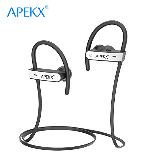 APEKX Bluetooth Headphones, Noise Canceling Wireless in-Ear Earphones