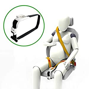 ZUWIT Bump Belt, Maternity Car Belt Adjuster, Comfort & Safety for Pregnant Moms Belly, Protect Unborn Baby, a Must-Have for Expectant Mothers -White
