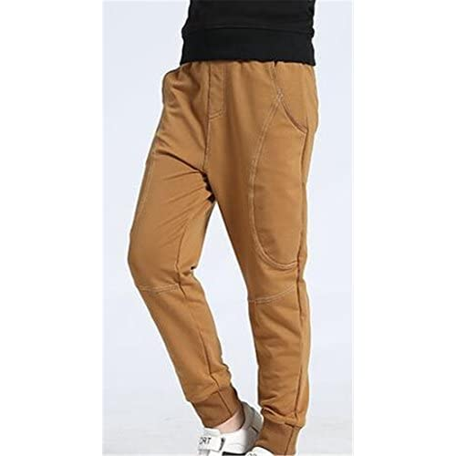 Cruiize Boys Classic Cotton Warm Loose Fit Jogger Mid Waist Outdoor Pants