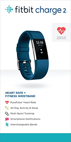 Fitbit Charge 2 Heart Rate + Fitness Wristband, Blue, Small (US Version) by Fitbit (Image #6)