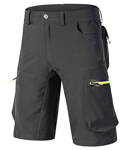 OUTTO Men's Mountain Bike Shorts Road Cycling Loose Casual MTB Clothing (29-30, 1809 Gray)