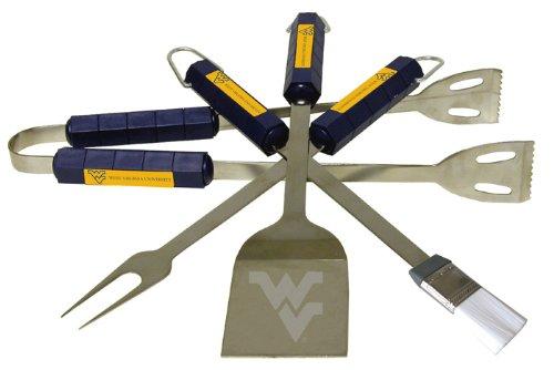 NCAA West Virginia Mountaineers 4 Piece Barbecue Set