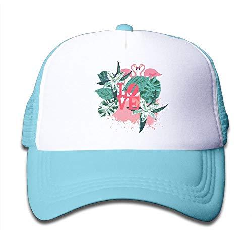 - Boys&Girls Flamingo Graffiti Mesh Hat Summer Snapback Baseball Caps Adjustable Trucker Caps